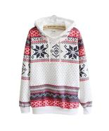 Women Christmas Snow Hoodie Sweatshirt Jumper Sweater Hooded Pullover - $19.23+