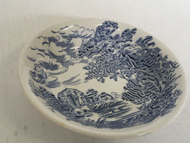Enoch Wedgwood blue countryside pattern small fruit dessert bowl French ... - $12.82