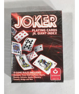 CARTAMUNDI JOKER Playing Cards, Jr Giant Index Red 10 Game Rules Include... - $5.44