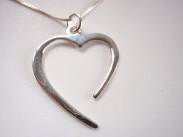 Receptive Open Heart Pendant 925 Sterling Silve... - $8.90