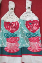 Handcrafted Crochet Top Kitchen Towels With I love you A Latte - $6.00