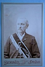 19th Century Cabinet Photo of Fraternal Member with Ceremonial Sash  - $9.50