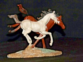 Brown and white Horse figurine AA19-1691 Vintage image 2