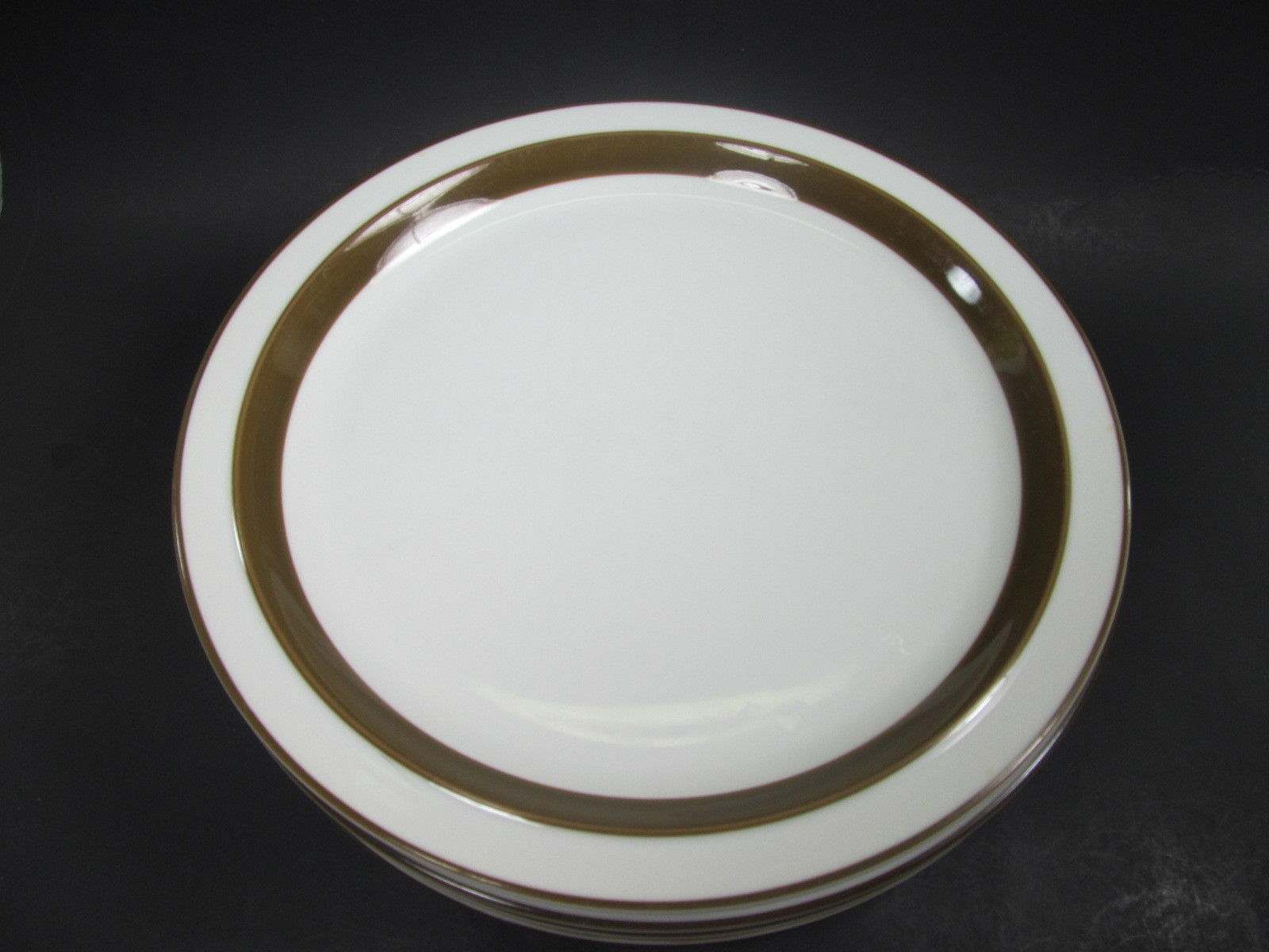 Mikasa Metro White Brown Rim Dinner Plates L4825 & Mikasa Metro White Brown Rim Dinner Plates and 50 similar items