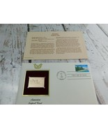 America Tropical Coast 22kt Golden Replica Stamp 1990 First Day Stamp  - $19.79