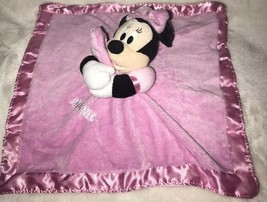 Disney MINNIE MOUSE Pink Lovey Baby Security Blanket Rattle Jingles Crinkle Ears - $7.99