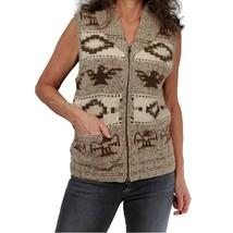 RRL DOUBLE RL Sz S Unisex Hand-Knit Thunderbird Shawl Collar Sweater Ves... - $237.60