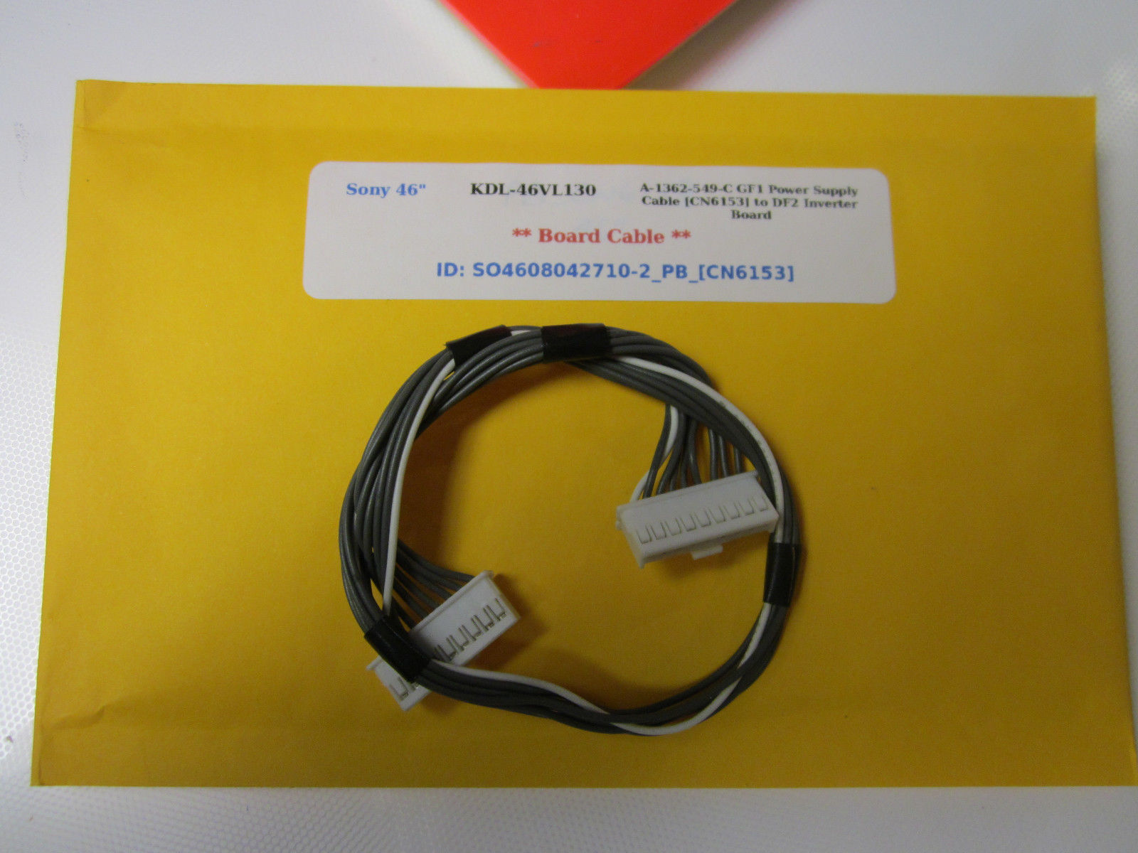 "Primary image for Sony 46"" KDL-46VL130 A-1362-549-C GF1 Power Supply Cable [CN6153] to DF2 Inverte"