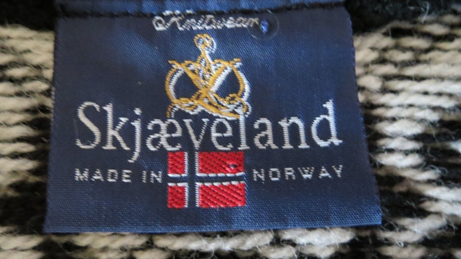 Norway Fair Isle Skjaeveland Norway wool Knitwear Sweater Vest 10 40 bust