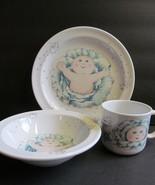 Cabbage Patch Royal Worcester Porcelain Plate Bowl & Cup Set Beautiful K... - $28.71