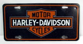 Harley Davidson Motorcycles Black Licensed Aluminum Metal License Plate ... - $9.89