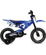 """Blue 12"""" Yamaha Moto Child's BMX Bike Realistic Design Includes Training... - $86.20"""