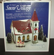 "1992 ""SHADY OAK CHURCH"" Department Dept 56 ORIGINAL SNOW VILLAGE SERIES ... - $34.64"