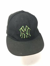 New York Yankees Green Yellow Logo New Era Fits Fitted 7 3/8 Size Baseba... - $24.70