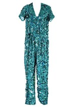 J Crew Collection Turquoise Sequin Jumpsuit Sample New Without Tags - $593.99