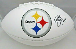 TROY POLAMALU / AUTOGRAPHED PITTSBURGH STEELERS LOGO WHITE PANEL FOOTBALL / COA