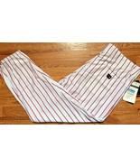Wilson White and Scarlet Red Pinstriped Baseball Pants Cuffed XXL 2XL NE... - $34.99