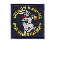 Hash House Harriers HHH Oregon Kahuna Hash House Club USA Patch navy blue 3.75 x - $9.99