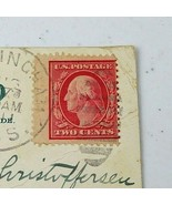 Antique Vintage 1909 US Postage Carmine Red 2 Cent George Washington Stamp - $250.00