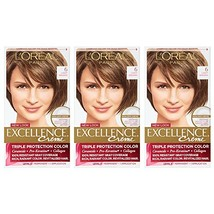 L'Oreal Paris Excellence Creme, 6 Light Brown, 3 Count, Packaging May Vary - $23.20