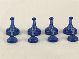 Sorry Sliders Clear Blue Pawn Replacement Game Pieces 4 Regular 4 Sliding - $6.97