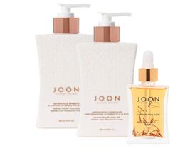 Joon Moisturizing Trio Set | Saffron Hair Elixir, Saffron Rose Shampoo and Condi