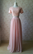 Gold BLUSH SEQUIN TOPS Short Sleeve Sequin Crop Tops Wedding Bridesmaid Top Plus image 3