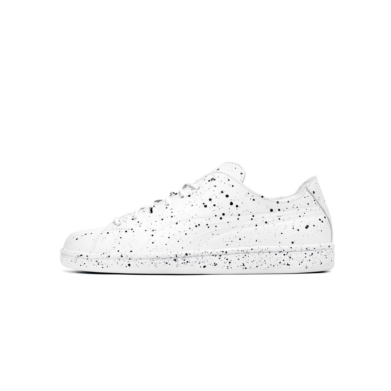 Mens Puma x Daily Paper Match Splatter White Black 363456-01