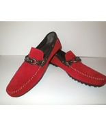 Bacco Bucci Suede Driving Shoes sz 11 1/2 11.5 FLAVIO Red Loafers - $74.00