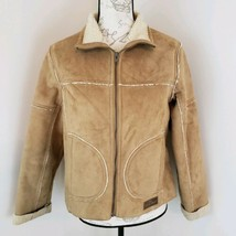 Horseware Size Small Brown Sherpa Lined Women's Jacket Ireland Full Zip BW - $47.49