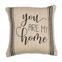 """New Farmhouse You Are My Home Pillow Country Home Decor 10"""" Square - $29.95"""