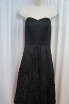Jessica Simpson Dress Sz 6 Solid Black Strapless Taffetta Evening Cockta... - £52.53 GBP