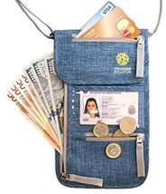 Travel Neck Pouch with RFID, Passport Holder, Travel Wallet That (Blue D... - $25.20