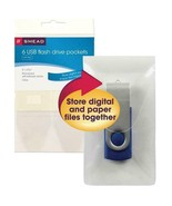 Smead 6 USB Flash Drive Pockets with Flap SMD68150 File Folder - $7.87