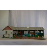 Marx Toys Tin Litho 1 Story Red Ranch Doll House with Patio + Furniture ... - $97.04