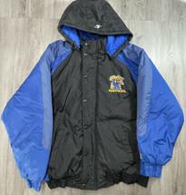Vtg University Kentucky Wildcats Hooded Logo Athletic NCAA Puffer Coat Jacket L - $34.60