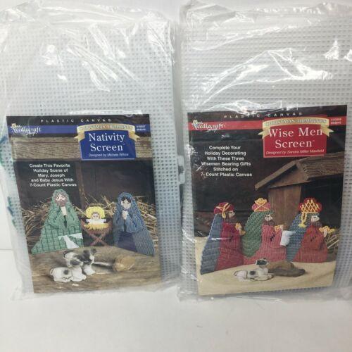 The Needlecraft Shop Christmas 3 Wise Men & Nativity Screen Plastic Canvas Kit - $23.53