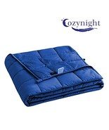 Cozynight Weighted Blanket 15Lbs 60''x80'',Royal Blue,Queen Size, Heavy ... - $49.74
