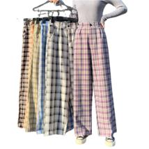 RFA Female Plaid Pants / Many Colors / Wide Leg / High Waist / Women Swe... - $24.95