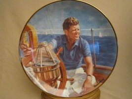 AT THE HELM  JFK Collector Plate PRESIDENT JOHN F KENNEDY  Max Ginsburg - $29.99