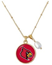 Louisville Cardinals Diana Gold and Pearl Saturn Necklace Jewelry Gift R... - $16.82