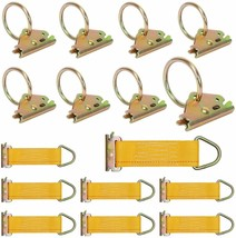 Trekassy E-Track Tie Down Kit, 8 O-Ring Anchors and 8 Rope Tie Offs, Tie Down