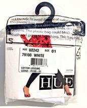 Hue Cotton Leggings 79100 size S 01 White 95% Cotton 5% Spandex UPC 8881... - $13.99