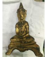 HOLY BLESSED OLD GOLD PRA-CHAI-SAM-KHA-ZONG-KREUNG TOP MAGIC THAI BUDDHA... - $9.99