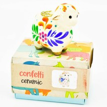 Handcrafted Painted Ceramic Sheep Lamb Confetti Series Ornament Made in Peru image 1