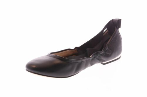 NIB Sam Edelman Women's Fallon Lace Up Black Leather Ballet Flats Sz 6.5 $100