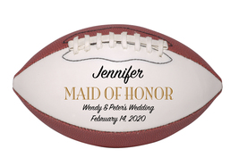 Maid of Honor Mini Football Wedding Gift - Personalized Wedding Favor - $34.95