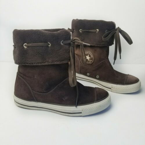 Primary image for Converse Brown Andover High Top Fold Over Boots Women Size 7