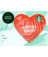 Starbucks 2020 Coffee Date? Heart Recyclable Gift Card New No Value - $1.99