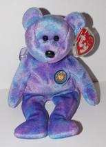 Ty Beanie Baby Clubby IV Plush 8in Teddy Bear Stuffed Animal Retired Tag 2001 - $9.99